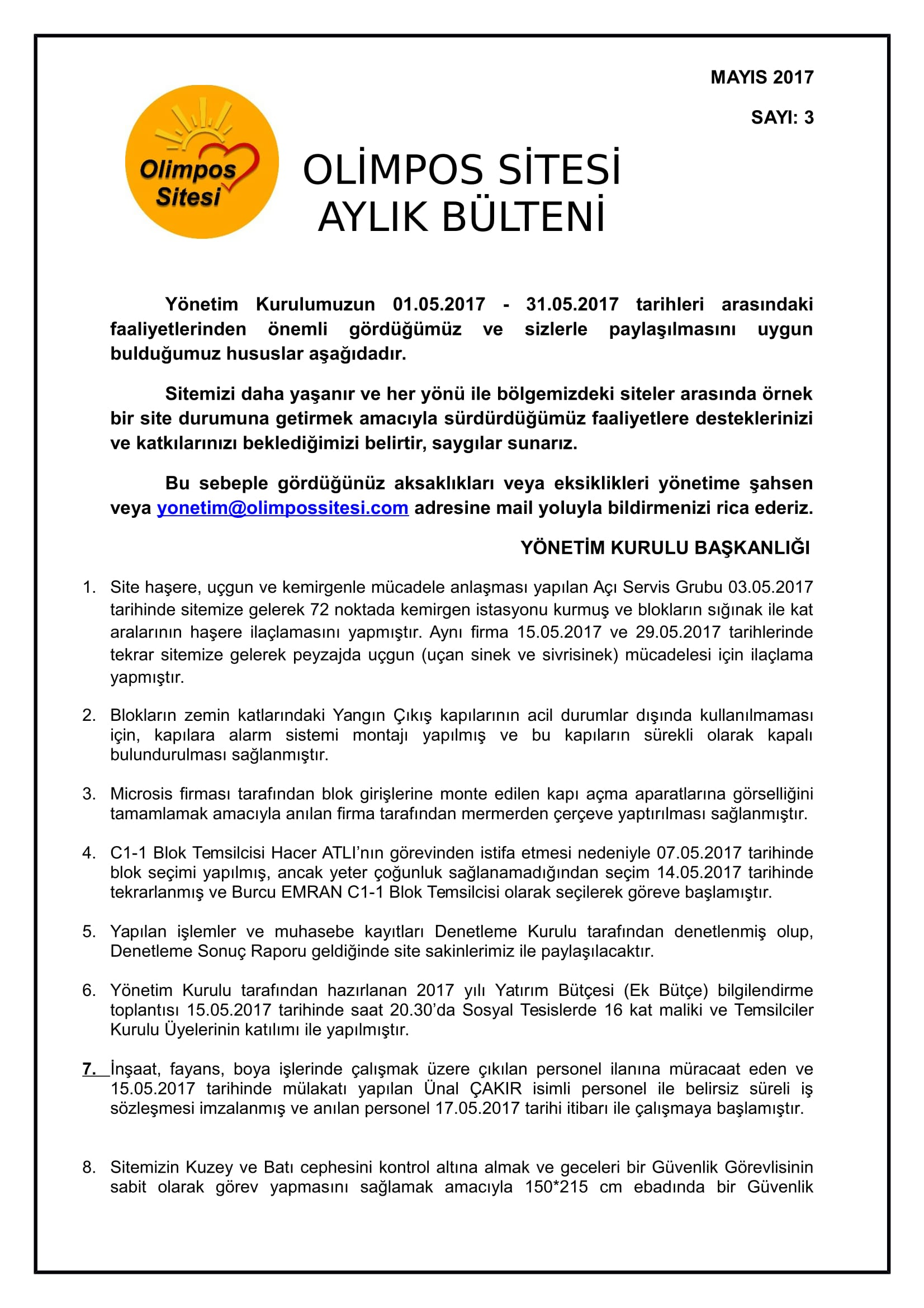 BÜLTEN NO 2 MAYIS 2017-1